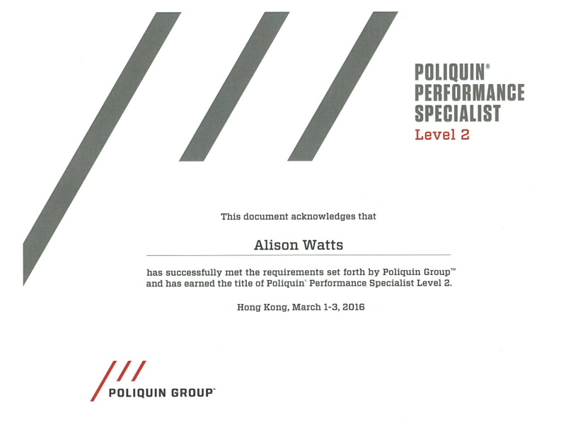 Poliquin Level 2 Certificate