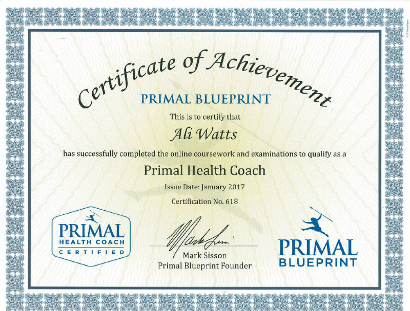 Primal Health Cert