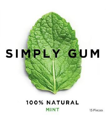Simply Gum Mint Natural Chewing Gum - Non GMO, Vegan